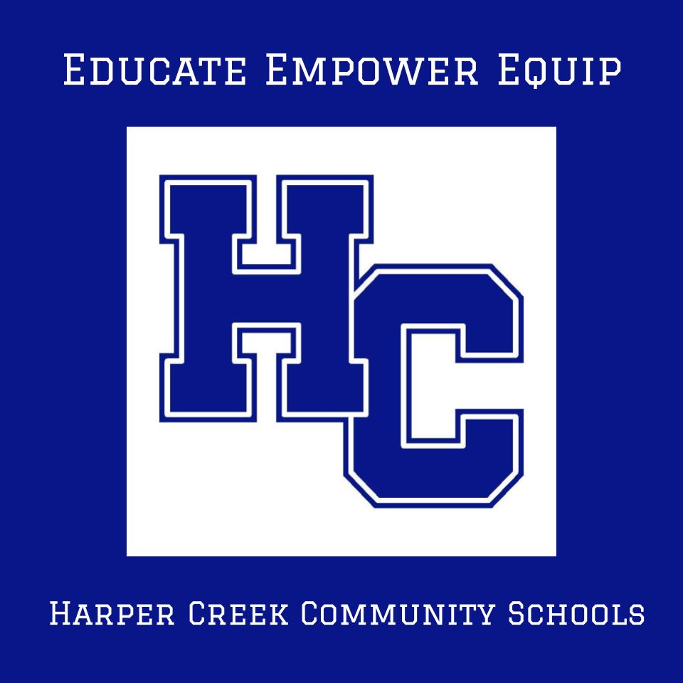 Harper Creek Logo with Blue Background
